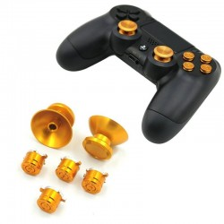 Metal 3D - analog joystick thumb stick caps & buttons - for Sony PS4 Controller