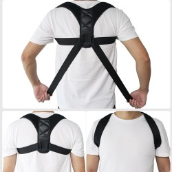 Adjustable back posture corrector - clavicle & spine & shoulders & lumbar - brace - support belt