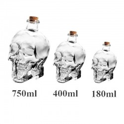 Crystal head skull - decanter for vodka & wine - 180ml - 400ml - 750ml