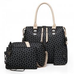 Fashionable leather bag - 4 pieces set