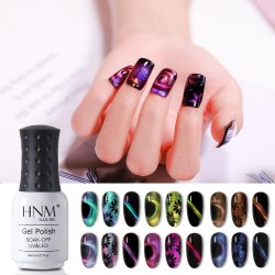 9D chameleon - cat eyes - glitter gel nail polish - UV LED lamp - 8 ml