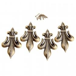 Antique brass - decorative corner protectors for furniture 4 pieces